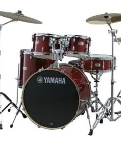 Yamaha Stage Custom Cranberry Red 20 drumset drums birch batteria betulla