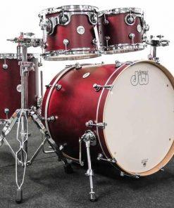 Dw Drum Workshop Design Maple Limited Edition Deep Cherry Satin Drums Batteria