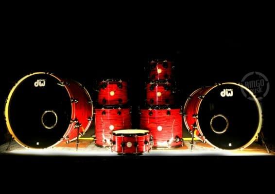 dw drum workshop collectors maple lava oyster 28 drums batteria