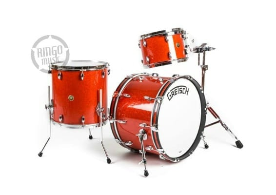 gretsch broadkaster tangerine glass maple poplar usa drum drums batteria 1