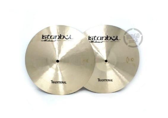 istanbul mehmet traditional hi-hat 13 light medium heavy flat cymbal piatto