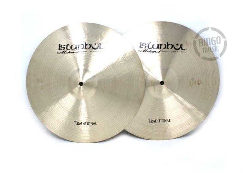 istanbul mehmet traditional hi-hat 14 light medium heavy flat cymbal piatto
