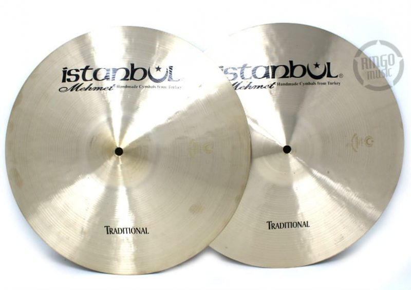 istanbul mehmet traditional hi-hat 16 light medium heavy flat cymbal piatto