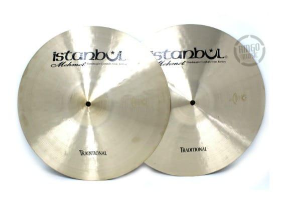 istanbul mehmet traditional hi-hat 16 light medium heavy flat cymbal piatto