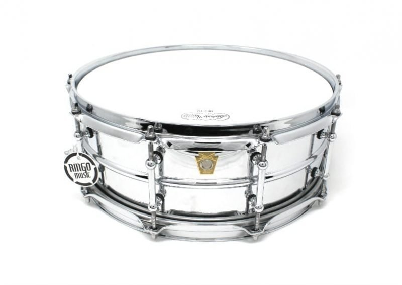 ludwig supraphonic chrome over brass LB400BT tube lugs snare rullante