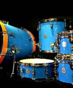pdp concept maple limited edition blue lacquer orange hoops drum drums batteria New Logo