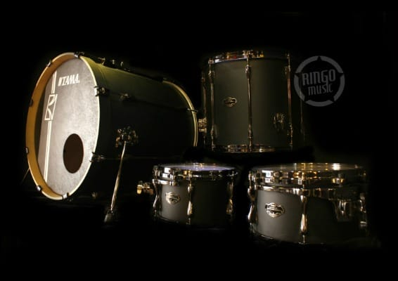 tama ml42hlzbns fbk flat black superstar maple custom hyperdrive drum drums batteria