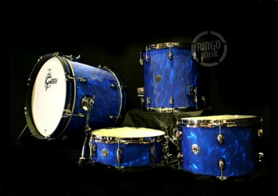 gretsch catalina club jazz blue satin flame shell pack drum drums batteria ct1-j484 limited edition edizione limitata