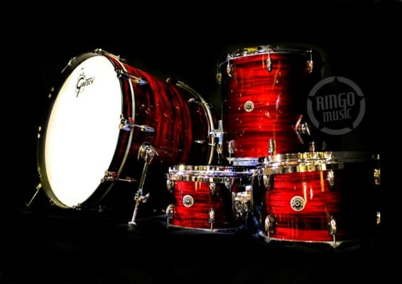 Gretsch Brooklyn Usa Maple Poplar GB-R443 Drum Drums Drumset Batteria Red Oyster