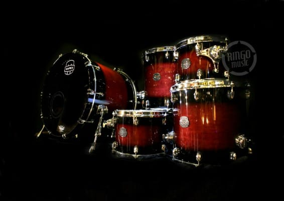 Mapex Saturn IV Maple Walnut SNM628X CL Merlot Burst Drum Drums Batteria Drumset Acero Noce