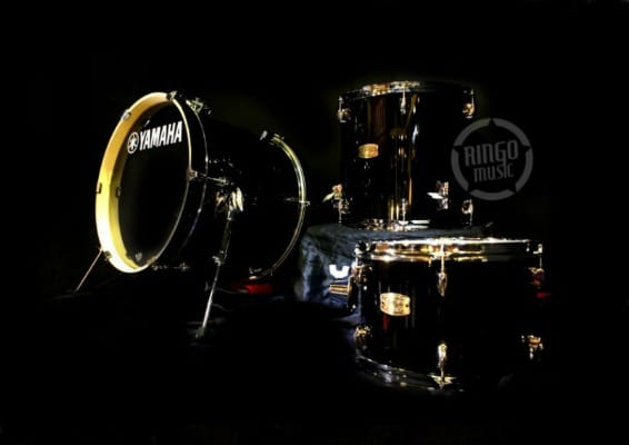 Yamaha Stage Custom Birch Bop Kit Raven Black SBP8F3RB Batteria Betulla Drum Drums