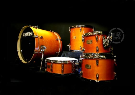 Yamaha Stage Custom Birch Fusion Kit Honey Amber SBP0F5HA drum batteria betulladrums