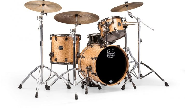 "Mapex Saturn V Exotic 18"" SV481XBMXN SV481XBMNL Maple Walnut Natural Maple Burl MXN Amber Maple Burl MNL batteria drumset drums drum"