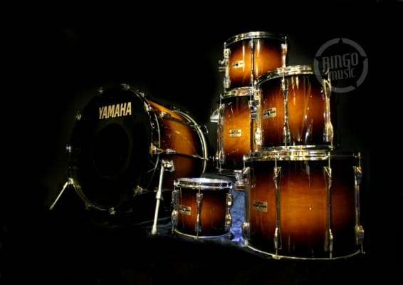 Yamaha Recording Custom 9000 Antique Sunburst Lacquer Steve Gadd Batteria Drum Drums Drumset Birch Made in Japan
