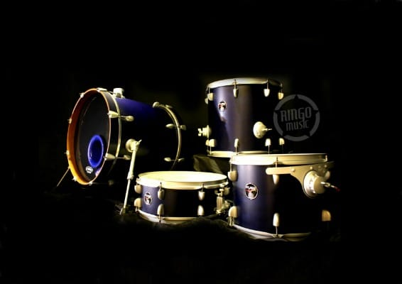 Dixon Fuse Series Set 18 4pz FS-418 SS Drum Drums Batteria Satin Midnight Blue 2