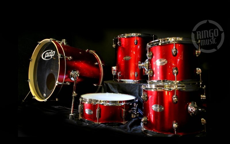 PDP Pacific Drums DW Mainstage Red Sparkle Drum Drums Batteria