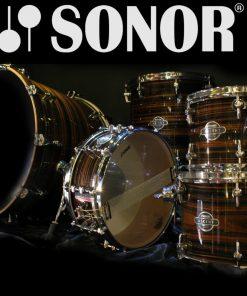 Sonor Ascent Beech Ebony Stripes Lacquer Studio Drum Drumset Drums Batteria