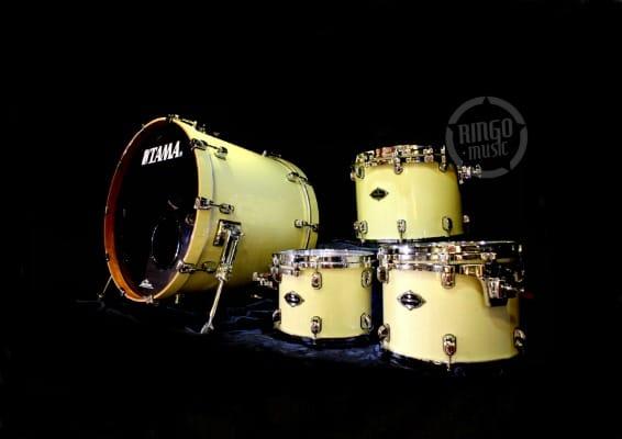 Tama Starclassic Bubinga Birch Betulla AWS Antique White Sparkle PL42S Drum Drums Drumset Batteria