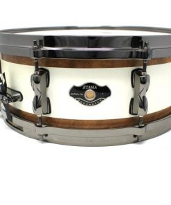 Tama Superstar Custom Limited Edition Exotic 145,5 Snow White With Birch Inlay snare snaredrum drum