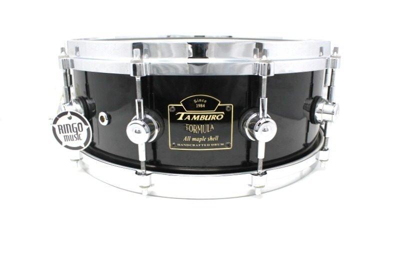 Tamburo Formula Custom Maple 14x5,5 Piano Black snare snaredrum drum