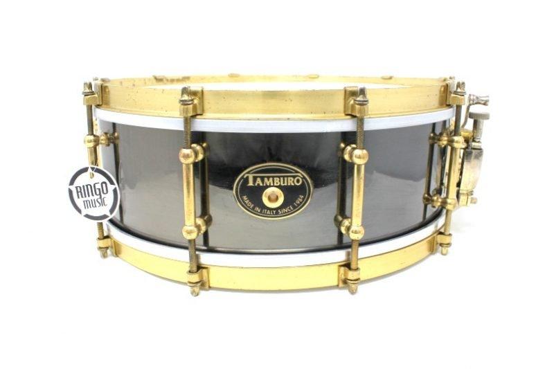 Tamburo Metal Brass Limited Edition Black Nickel 14x5 snare snaredrum drum