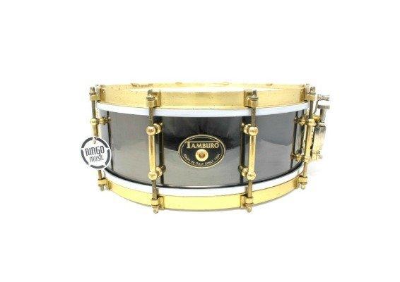 Tamburo Metal Brass Limited Edition Black Nickel 14x5 snare snaredrum drum1