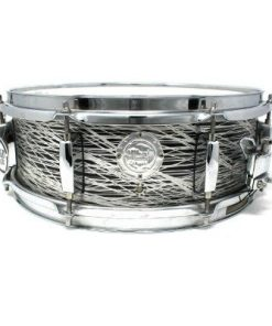 Vibe Break Custom 14x5 Platinum Lines Over Total Black snare snaredrum drum1