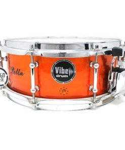 Vibe Elite Custom 12x5 Red Flame Stud snare snaredrum drum