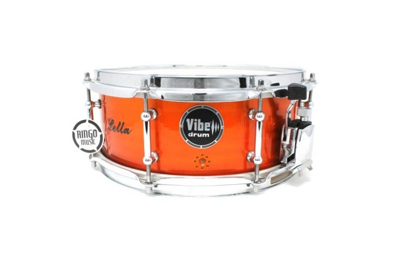 Vibe Elite Custom 12x5 Red Flame Stud snare snaredrum drum