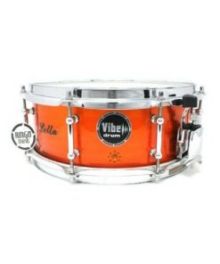 Vibe Elite Custom 12x5 Red Flame Stud snare snaredrum drum1