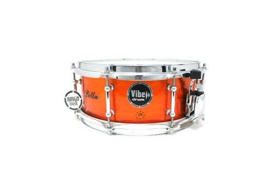 Vibe Elite Custom 12x5 Red Flame Stud snare snaredrum drum1