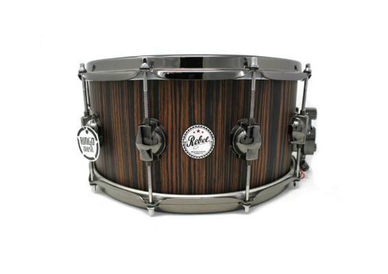 DS DrumSound Rebel Makassar Ebony Solid Satin snare snaredrum drum1