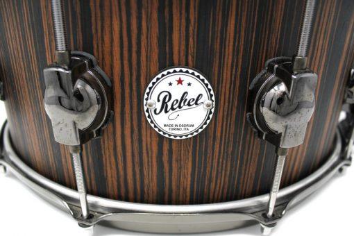 DS DrumSound Rebel Makassar Ebony Solid Satin snare snaredrum drum2