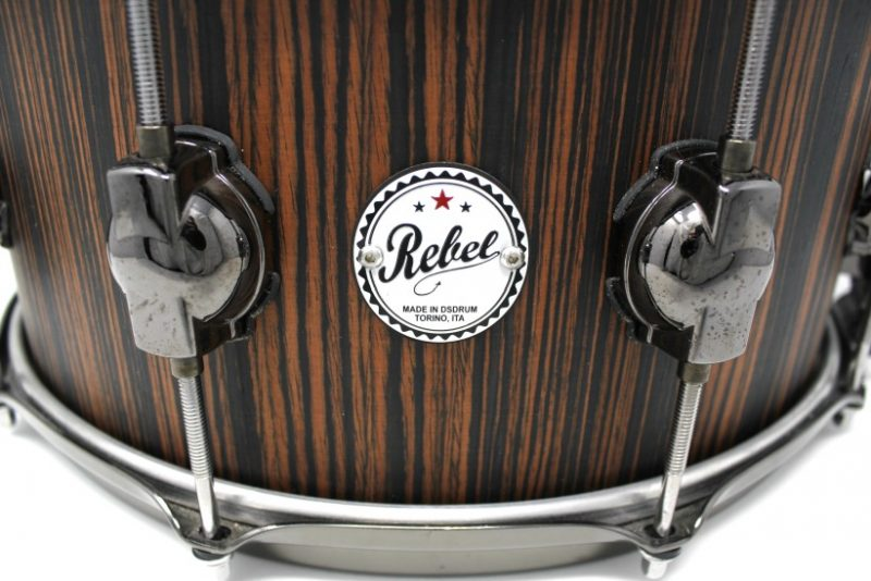 DS DrumSound Rebel Makassar Ebony Solid Satin snare snaredrum drum2