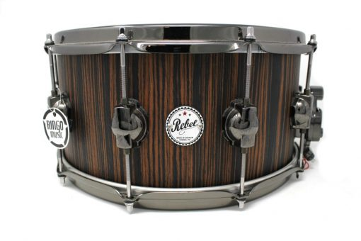 Ds DrumSound Rebel Makassar Ebony Solid Satin 14x7 snare snaredrum drum