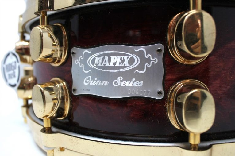 Mapex Orion Wine Burl Burst 14x6 snare snaredrum drum2