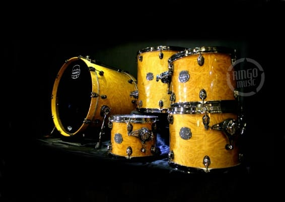 Mapex Saturn Exotic V 5 Amber Maple Burl MNL Drum Drums Drumset Batteria Walnut Maple