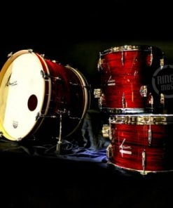 Sonor Vintage Three22 Shell Set NM Red Oyster Beech Drum Drums Drumset Batteria