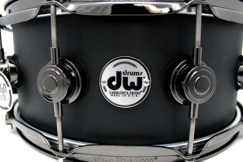 DW Drum Workshop Collector's Maple Satin Oil Matte Black 14x5,5 Snare Drumsnare Snaredrum Acero Rullante