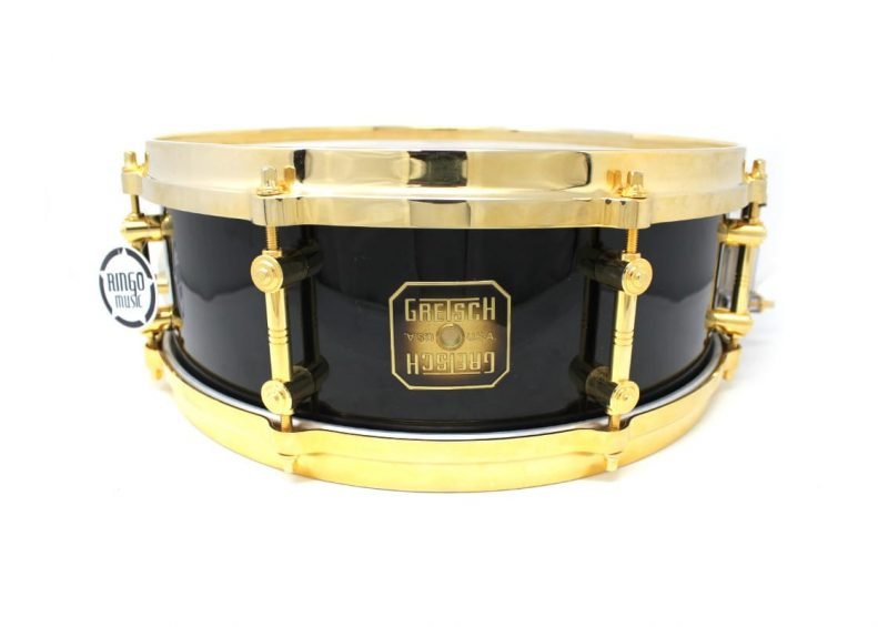 Gretsch Usa Custom Maple Gold Limited Edition 14x5,5 Snare Drumsnare Snaredrum Rullante Drum