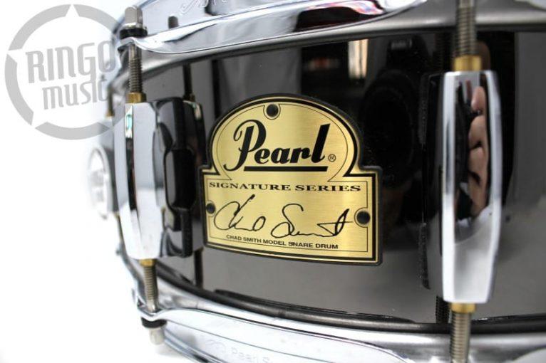 """Pearl Signature Chad Smit 14x5"""" Black Steel CS1450"""