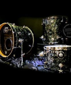 DW Drum Workshop Performance Maple Be Bop Jazz Set Drumset Drums Batteria Black Diamond demo