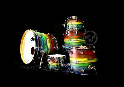 Ds DrumSound Drum Sound All Birch Rainbow Drumset Drums Batteria