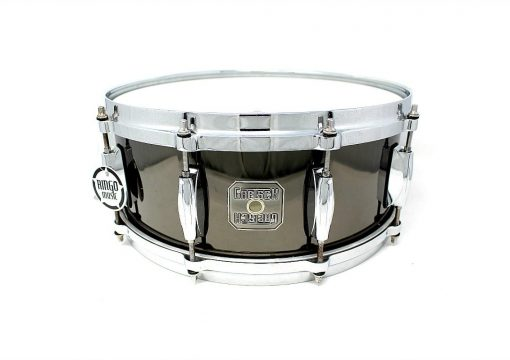 Gretsch Black Solid Steel 14x5,5 Snare Snaredrum Drumsnare Rullante.jpg