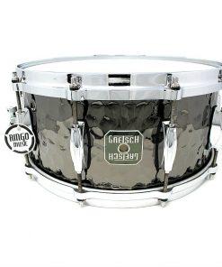 Gretsch Hand Hammered Black Steel 14x6,5 Snare Snaredrum Drumsnare Rullante