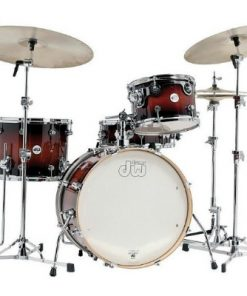 dw design frequent flyer 20 tobacco burst maple acero drumset drums batteria