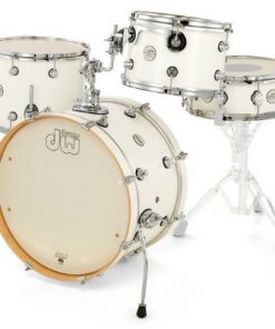 dw design frequent flyer 20 white gloss maple acero drumset drums batteria