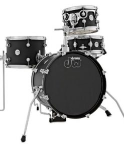 dw design 16 black satin batteria drumset drums