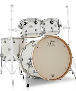 dw design 22 white gloss batteria drums drumset acero maple