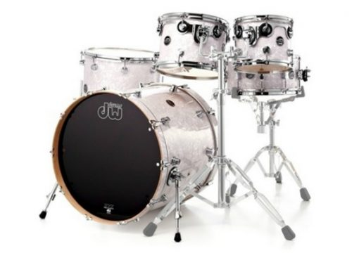 dw performance 20 10 12 14 white marine pearl batteria acero maple drumset drums